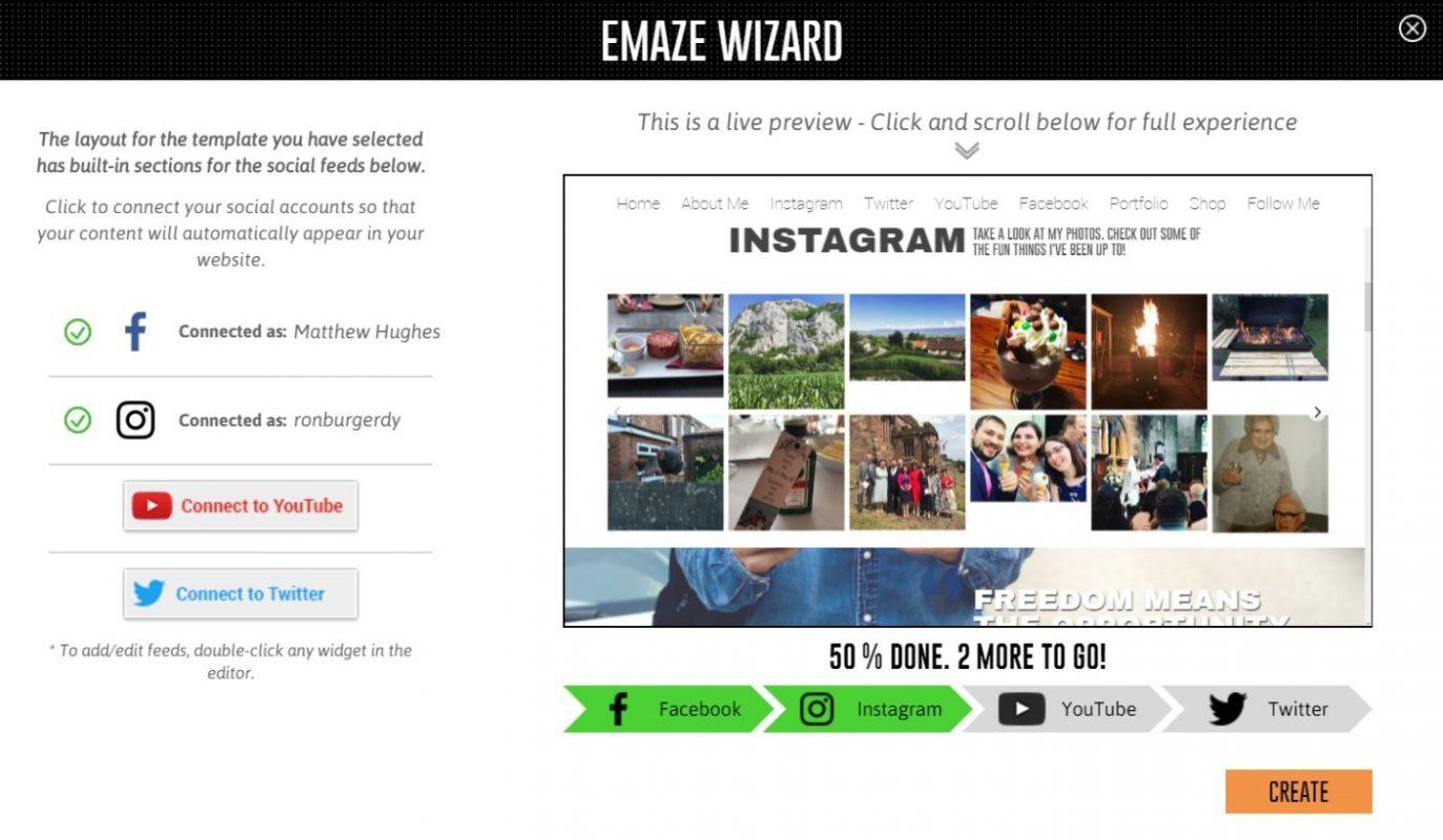 EmazeWizard-combine-social-media-accounts